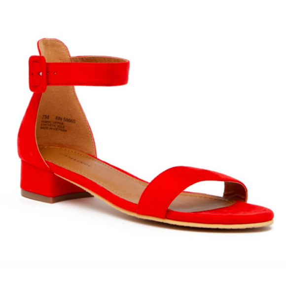offer discounts cute cheap cheap Women's Red Low Heels Sandals Open Toe Shoes